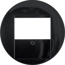 6810332045 Centre plate with TDO cut-out Berker R.1/R.3, black glossy
