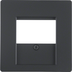 6810336086 Centre plate with TDO cut-out Berker Q.1/Q.3, anthracite velvety,  lacquered