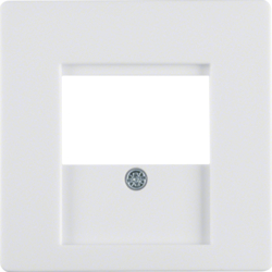 6810336089 Centre plate with TDO cut-out Berker Q.1/Q.3, polar white velvety