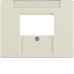 6810350002 Centre plate with TDO cut-out Labelling field,  white glossy