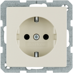 7341236082 SCHUKO socket outlet with enhanced touch protection,  with screw terminals,  Berker Q.1/Q.3