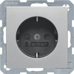7341236084 SCHUKO socket outlet with enhanced touch protection,  Screw-in lift terminals,  Berker Q.1/Q.3