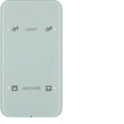 75142160 Touch sensor 2gang comfort with integral bus coupling unit,  KNX - Berker R.1 - configured,  glass polar white