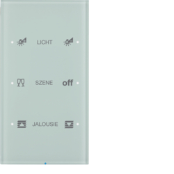 75143150 Touch sensor 3gang comfort with integral bus coupling unit,  KNX - Berker R.3 - configured,  glass polar white