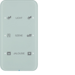 75143160 Touch sensor 3gang comfort with integral bus coupling unit,  KNX - Berker R.1 - configured,  glass polar white
