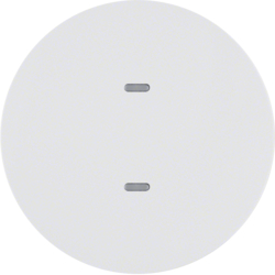 75161869 1gang for push-button module with clear lens,  KNX - Berker R.1/R.3, polar white glossy