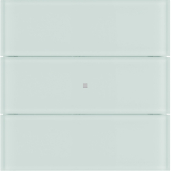 75163590 B.IQ push-button 3gang comfort glass polar white