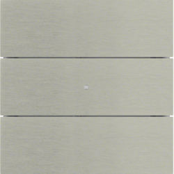 75163593 B.IQ push-button 3gang comfort KNX - Berker B.IQ,  Stainless steel,  metal brushed