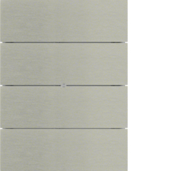 75164593 B.IQ push-button 4gang comfort KNX - Berker B.IQ,  Stainless steel,  metal brushed