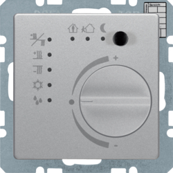 75441124 KNX thermostat with setting knob,  with integral bus coupling unit,  KNX - Berker Q.1/Q.3