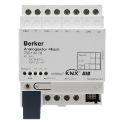75514001 Analogue actuator 4gang RMD with screw-in lift terminals,  KNX,  light grey