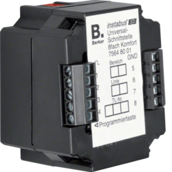 75648001 Universal interface 8gang flush-mounted with integral bus coupling unit,  KNX,  black