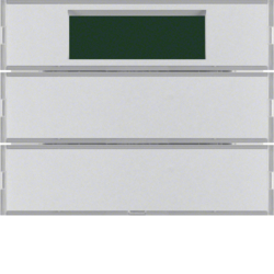 75662774 Push-button 2gang with thermostat Labelling fields,  Display,  KNX - Berker K.1/K.5, aluminium