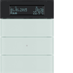 75663590 B.IQ push-button 3gang with thermostat Display,  KNX - Berker B.IQ,  glass polar white