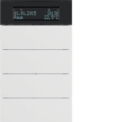 75664599 B.IQ push-button 4gang with thermostat Display,  KNX - Berker B.IQ,  polar white matt