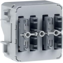 80141200 Push-button module 1gang surface-mounted/flush-mounted with integral bus coupling unit,  KNX - Berker W.1