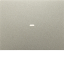 80960273 Cover for 1gang for push-button module with clear lens,  KNX - Berker K.1/K.5, stainless steel matt,  lacquered