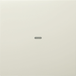 80960282 Cover for 1gang for push-button module with clear lens,  KNX - Berker S.1/B.3/B.7, white glossy