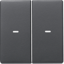 80960326 Cover for 2gang for push-button module with clear lens,  KNX - Berker Q.1/Q.3, anthracite velvety,  lacquered