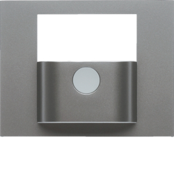 80960473 Cover for KNX motion detector module stainless steel matt,  lacquered