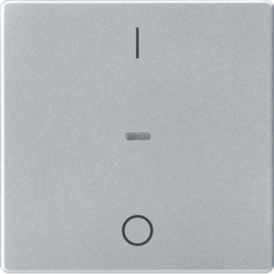 80962221 Cover for 1gang for push-button module with clear lens,  KNX - Berker Q.1/Q.3, aluminium velvety,  lacquered