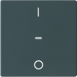 80962226 Cover for 1gang for push-button module with clear lens,  KNX - Berker Q.1/Q.3, anthracite velvety,  lacquered