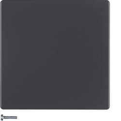 85141126 Button 1gang Berker Q.1/Q.3, anthracite velvety,  lacquered