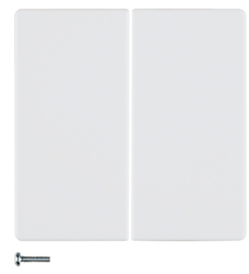 85146129 KNX radio button 2gang quicklink polar white velvety