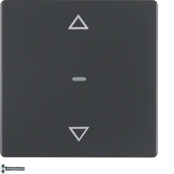 85245126 KNX radio blind button quicklink Berker Q.1/Q.3, anthracite velvety,  lacquered