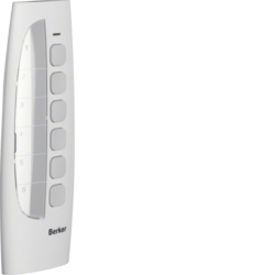 85607100 KNX radio hand-held transmitter 6-channel with labelling field,  Electronics platform,  polar white velvety