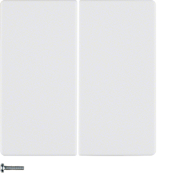 85648129 KNX radio button 4gang quicklink Berker Q.1/Q.3, polar white velvety