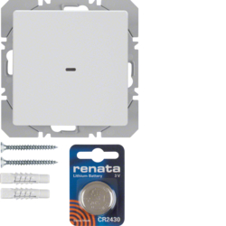 85655229 KNX radio wall-transmitter 1gang flat quicklink polar white velvety