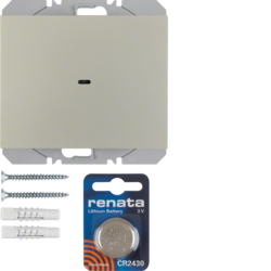 85655273 KNX radio wall-transmitter 1gang flat quicklink Berker K.5, stainless steel matt,  lacquered