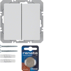 85656229 KNX radio wall-transmitter 2gang flat quicklink polar white velvety