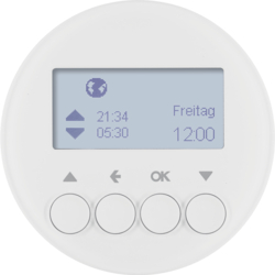 85741139 Blind time switch with display,  Berker R.1/R.3/Serie 1930/R.classic,  polar white glossy