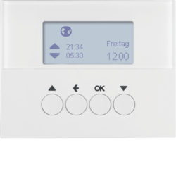 85741179 Blind time switch with display,  Berker K.1, polar white glossy
