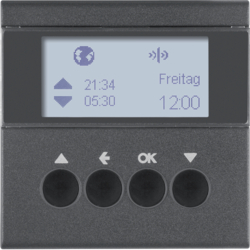 85745185 KNX radio blind time switch quicklink with display,  Berker S.1/B.3/B.7, anthracite,  matt
