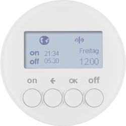 85745239 KNX radio timer quicklink with display,  Berker R.1/R.3/Serie 1930/R.classic,  polar white glossy