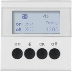 85745288 KNX radio timer quicklink with display,  Berker S.1/B.3/B.7, polar white matt