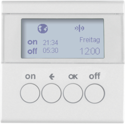 85745289 KNX radio timer quicklink with display,  Berker S.1/B.3/B.7, polar white glossy