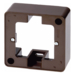 10290001 Frame 1gang surface-mounted Surface-mounted accessories,  brown glossy