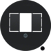 104001 Centre plate with TAE cut-out knock out,  Serie 1930/Glas,  black glossy