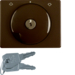 10790501 Centre plate with lock and touch function for switch for blinds Key can be removed in 0 position,  Berker Arsys,  light bronze matt,  aluminium lacquered