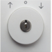 10838989 Centre plate with lock and touch function for switch for blinds Key can be removed in 0 position,  Berker S.1/B.3/B.7, polar white glossy