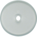 1090 Glass cover plate for rotary switch/spring-return push-button Serie Glas,  clear glossy