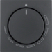 11371626 Centre plate for speed controller with setting knob,  Berker S.1/B.3/B.7, anthracite,  matt