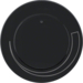 11372035 Centre plate for speed controller with setting knob,  Berker R.1/R.3, black glossy