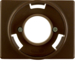 11670001 Centre plate for pilot lamp E14 Berker Arsys,  brown glossy