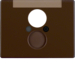 11850001 Centre plate for loudspeaker socket outlet with labelling field,  Berker Arsys,  brown glossy