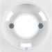 11986089 Centre plate for pilot lamp E14 Berker Q.1/Q.3, polar white velvety